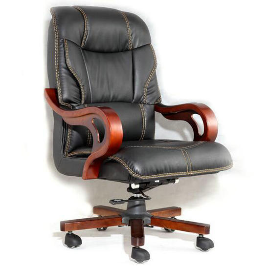 Luxury Recliner Mage Genuine Leather Executive Wooden Office Chair
