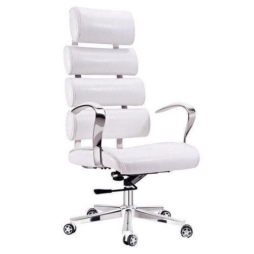 office chair white leather. Adjustable Modern White Leather Office Chair Executive Swivel Lift With Aluminum Five St R