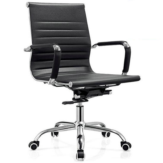 black leather low back office chair,meeting room chairs,cheap
