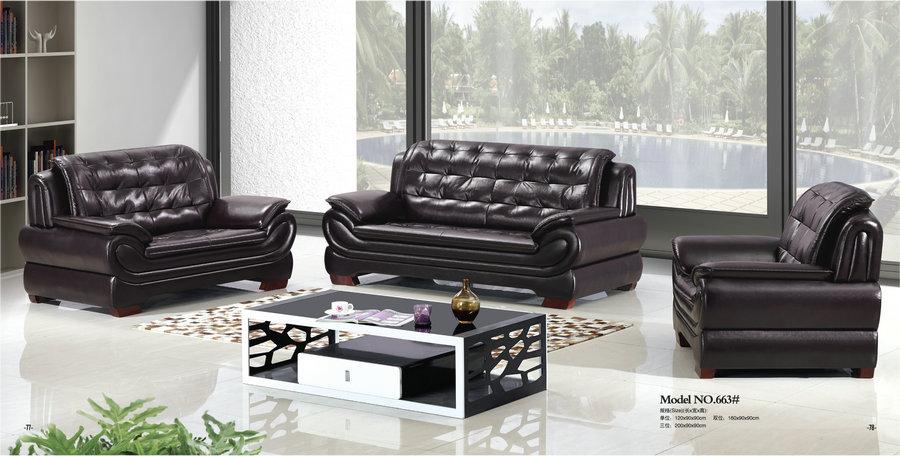 Sofa Leather Office Set