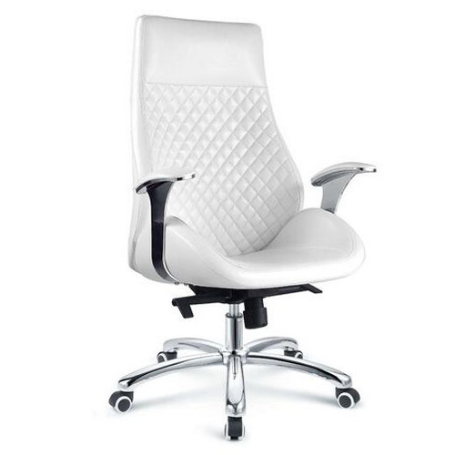 china manufacturer low price high back white leather executive